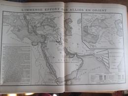 GUERRE 14-18  Carte Du Front  L Effort Des Alliés En ORIENT Asie - Alte Papiere