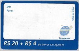 PREPAID PHONE CARD BRASILE (U.39.7 - Brazil