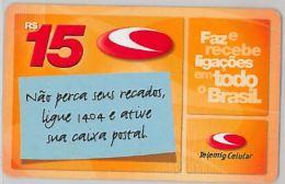 PREPAID PHONE CARD BRASILE (U.39.8 - Brazil