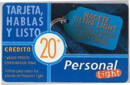 PREPAID PHONE CARD ARGENTINA (U.42.8 - Argentina