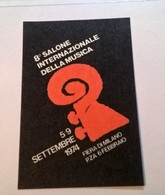 ERINNOFILI VIGNETTE  CINDERELLA -  1974 SALONE INTERNAZIONALE MUSICA - MILANO FIERA - Cinderellas