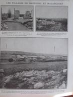 GUERRE 14-18  Le Village De  HAUCOURT ET  MALANCOURT - Alte Papiere