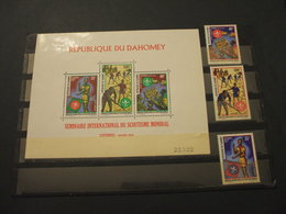 DAHOMEY - 1972 P.A. SCOUT 3 VALORI + BF - NUOVI(++) - Benin - Dahomey (1960-...)