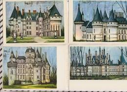 8AK687 Lot De 6 Cartes CHATEAUX PAR BERNARD BUFFET 2 SCANS - Châteaux