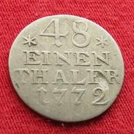 Germany Prussia 1/48 Taler 1772  Alemania Allemagne  L7-5 - Autres