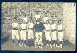 Cpa  Carte Photo Du 22 Gymnastes -- Cachet Départ Saint Brieuc Direction Plourivo  AVRIL18-09 - Saint-Brieuc