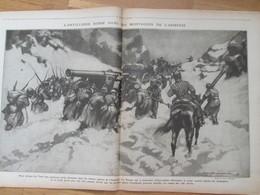 La Grande Guerre 14-18 L Artillerie Russe Dans Les Montagnes D ARMENIE    Grande Gravure 1916 Front Russe - Alte Papiere