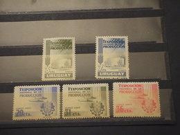 URUGUAY - 1956 CENTENARIO/AEREI 5 VALORI - NUOVI(+) - Uruguay
