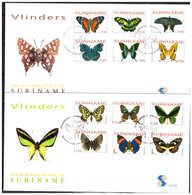 Surinam / Suriname 2004 FDC 277ab Vlinders Butterfly Butterflies Schmetterling Papillon - Suriname