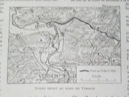 La Guerre 14 18 La Semaine Militaire Du 13 Au 20 Avril 1916 REGION BATAILLE DE VERDUN - Alte Papiere