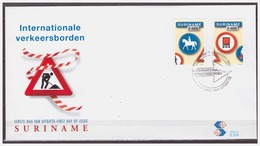 Surinam / Suriname 2004 FDC 279 Trafficsign Nr. 15+16 Roadsign Verkehrsschild Panneau De Signalisation - Suriname