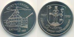 DDR Medaille, Friedrichroda 150 Jahre Erholungsort, Rathaus, 1987 - Other