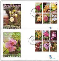 Surinam / Suriname 2005FDC 288ab  Orchidee Orchids - Suriname