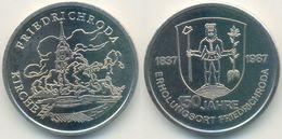DDR Medaille, Friedrichroda 150 Jahre Erholungsort, Kirche, 1987 - Other