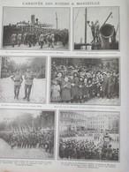 La Grande Guerre 14-18 L Arrivée Des Russes à MARSEILLE - Alte Papiere