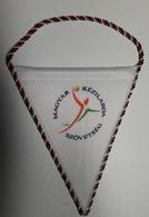 Pennant  Handball Federation Of HUNGARY 9.50 X 9.50 Cm - Handball