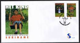 Surinam / Suriname 2005 FDC 291 Kind Child Kinder Enfent Swing Schaukel Balancoire - Suriname
