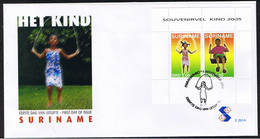 Surinam / Suriname 2005 FDC 291a Kind Child Kinder Enfent Swing Schaukel Balancoire S/S - Suriname