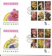 Surinam / Suriname 2006 FDC 293ab Orchidee Orchids - Suriname