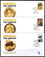 Surinam / Suriname 2006 FDC 295a/f Nobel Laureaten Nobel Price Winners Nobel Preistrager - Suriname