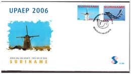 Surinam / Suriname 2006 FDC 296 UPAEP Airplane Mill Flugzeuge Mühle Avion Moulin - Suriname