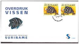Surinam / Suriname 2006 FDC 298xx Vissen Fishes Fischen Poisson Overprint - Suriname
