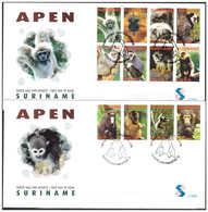 Surinam / Suriname 2006 FDC 299ab Aap Apen Monkey Ape Affen Singe - Suriname
