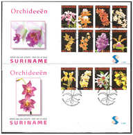 Surinam / Suriname 2007 FDC 300ab Orchidee Orchids - Suriname