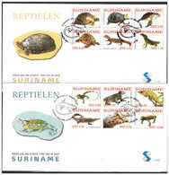 Surinam / Suriname 2007 FDC 302ab Turtle Lizard Crocodile - Suriname