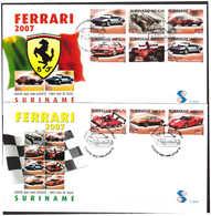 Surinam / Suriname 2007 FDC 305ab Auto Cars Wagen Voiture Ferrari - Suriname