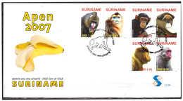 Surinam / Suriname 2007 FDC 306 Aap Apen Monkey Ape Affen Singe - Suriname