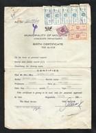 Somalia Marca Da Bollo Revenue Stamps On Document Paper 1989 - Somalia (1960-...)
