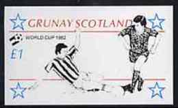 57415 Grunay 1982 Football World Cup Imperf Souvenir Sheet (1 Value) Unmounted Mint - World Cup