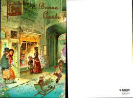 CP - BONNE ANNEE -FORMAT 8.5 X 13.5- Illustration D'une Rue Pendant Les Fetes - EDIT. BUSQUETS - Nouvel An