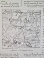 La Grande Guerre 14-18 La Semaine Militaire Vermandovillers  Chaulnes  Ablaincourt  Foucaucourt + Carte Du Front - Alte Papiere