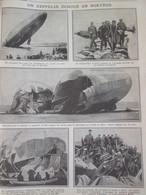 Guerre  14-18 1914  Un Zeppelin  échoué En NORVEGE NORGE   LE L-20 - Alte Papiere