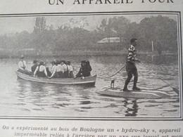 Guerre  14-18 1914 Ancetre Du PADDLE    Bois De Boulogne  1916 - Alte Papiere
