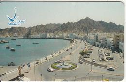 OMAN(chip) - Muttrah-New Corniche, Chip CHT08, 10/03, Used - Oman