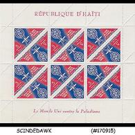 HAITI - 1962 MALARIA ERADICTION - SHEETLET - MINT NH 6nos - Haiti