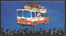 Autocarro Da Rodoviária Nacional Com Pai Natal.RN.Rede De Expressos.Cartão De Natal De 1979.Documento Histórico.2sc.Raro - Transport