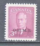CANADA  OFFICIAL  O 14   * - Overprinted