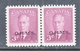CANADA  OFFICIAL  O 14 X 2   * - Overprinted