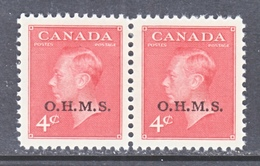 CANADA  OFFICIAL  O 15 X 2   * - Overprinted