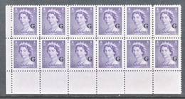 CANADA  OFFICIAL  O 36 X 12  * - Overprinted