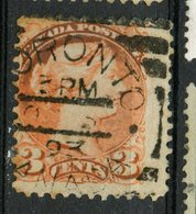 Canada 1888 3 Cent Queen Victoria Issue #41 Toronto Square Cancel - Used Stamps