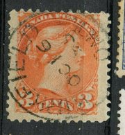 Canada 1888 3 Cent Queen Victoria Issue #41 Kirkfield Ont Cancel - Used Stamps