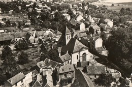 91.. CPSM.  En Avion Au Dessus De MONTSOULT.  L'église. La Ville.  1959. - France