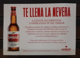 CERVEZA AMBAR - LA ZARAGOZANA. . - Alcoholes