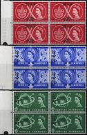 BR.POSTAL AGENCIES EASTERN ARABIA 1957 Scouting MARG.OVPT.4-BLOCKS:3 (Muscat) [Aufdruck,surimprimé,sobreimpreso] - Oman