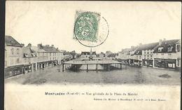Montlhéry  Vue Générale De La Place Du Marché - Montlhery